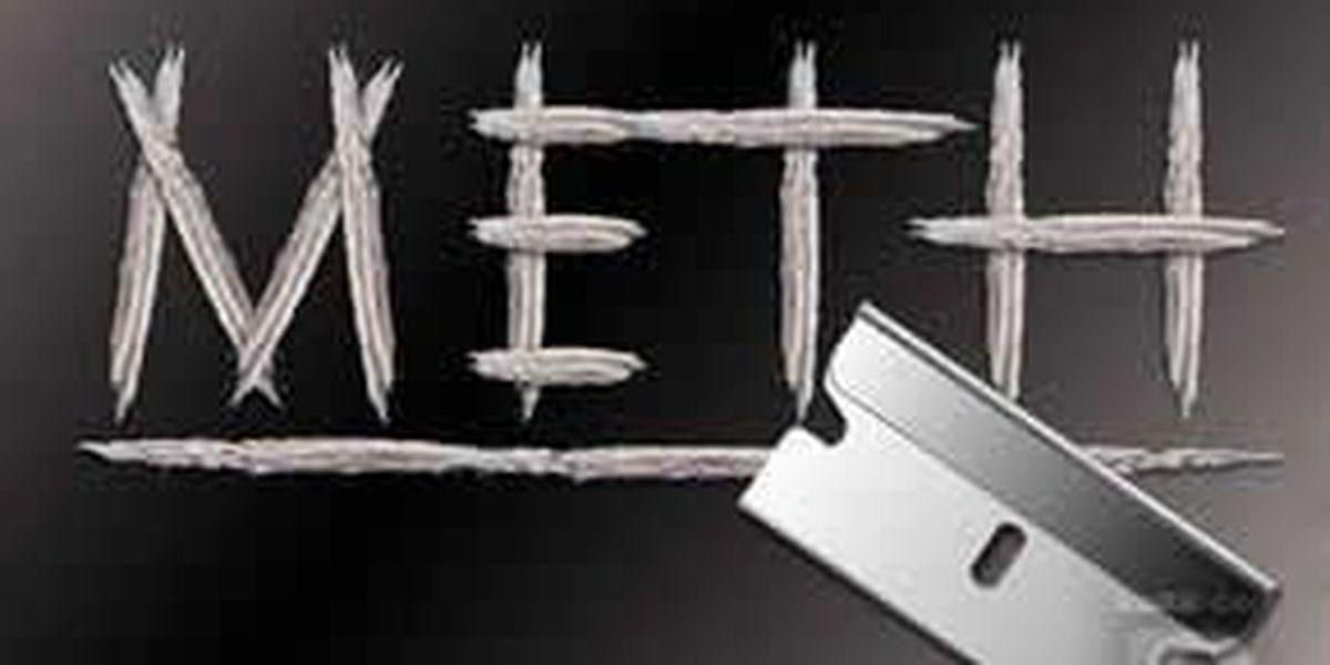 Officers seize quarter pound of meth, arrest suspect