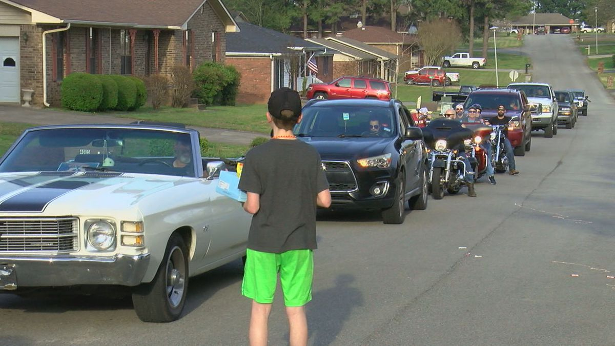 Paragould boy celebrates with a social distancing birthday party