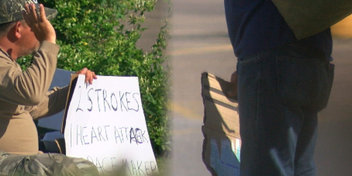 Region 8 News investigates: Panhandlers; story behind the sign