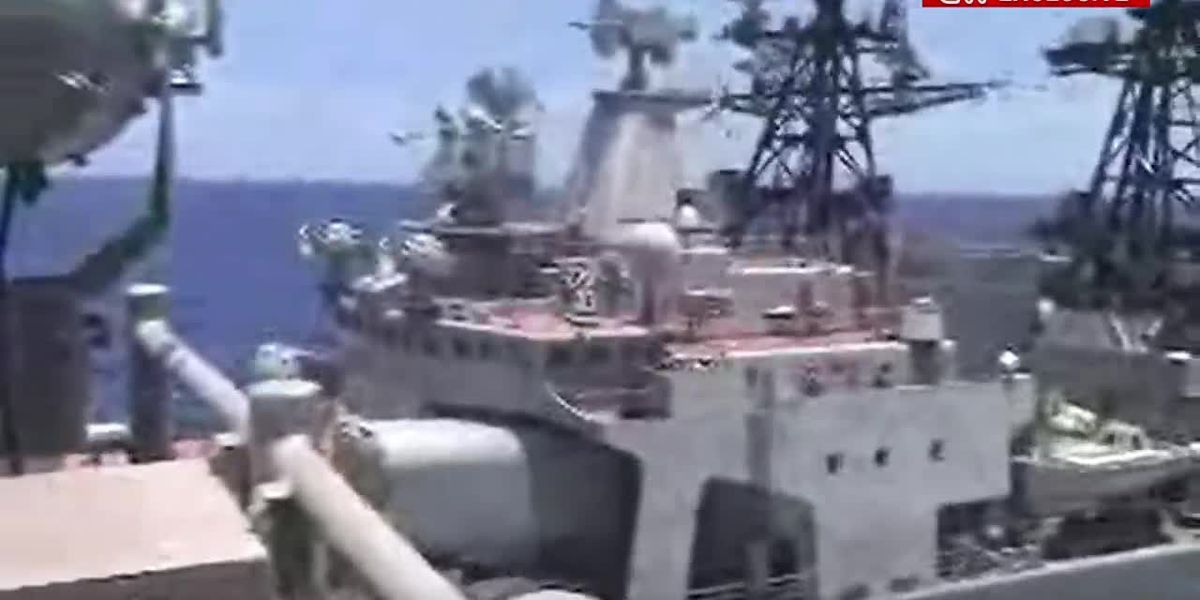 Russia, US warships nearly collide