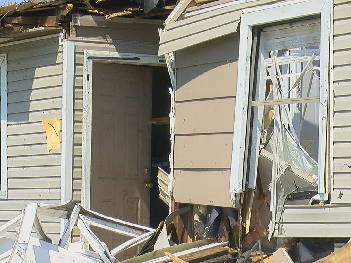 Woman in 'state of shock' after tornado crushes part of her home