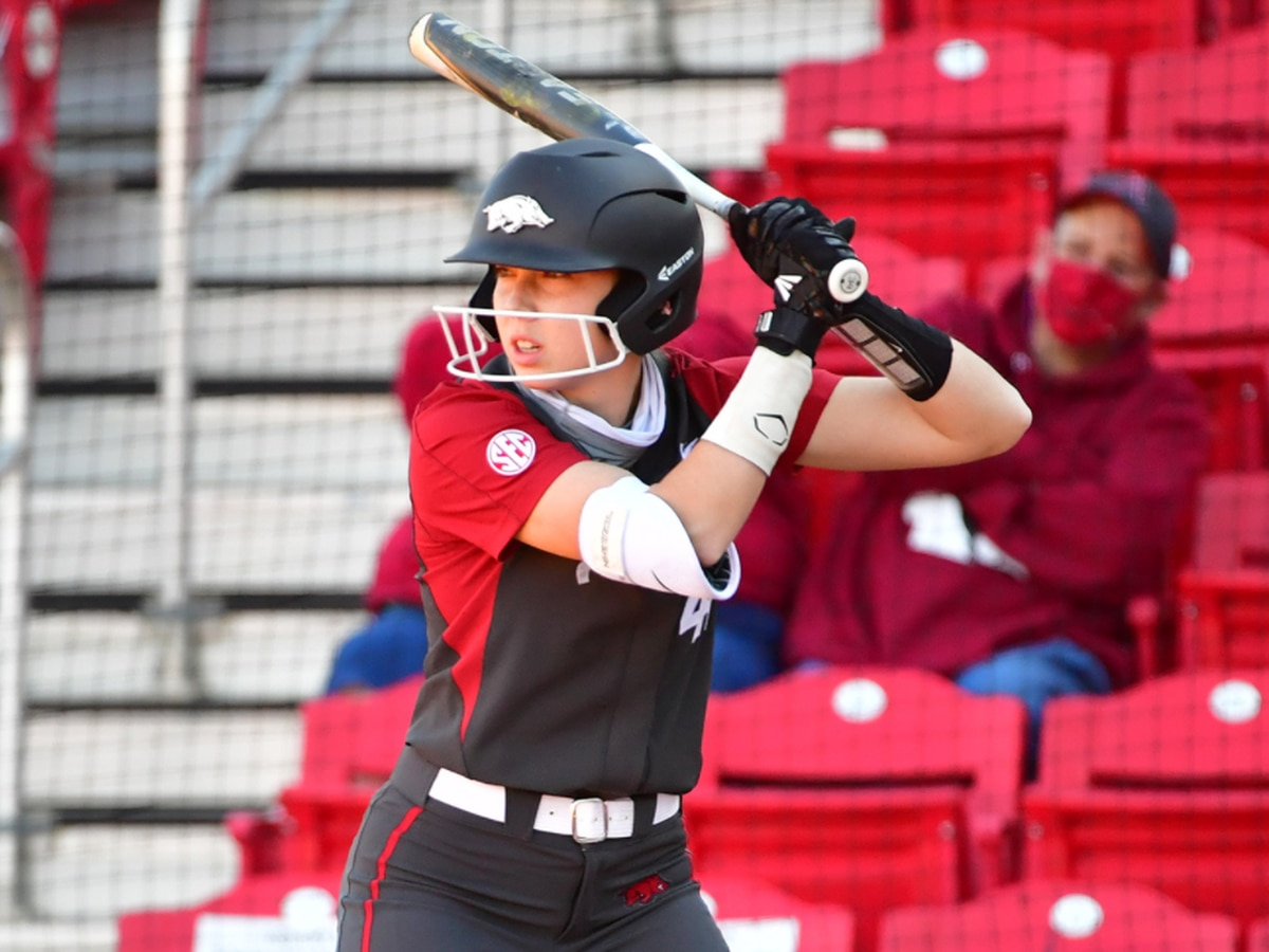 Burnside homers again as #15 Arkansas softball beats Northwestern State