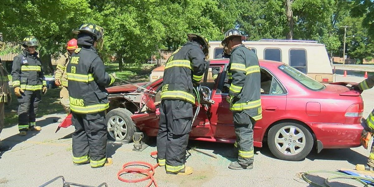 Local firefighters participate in crucial training class