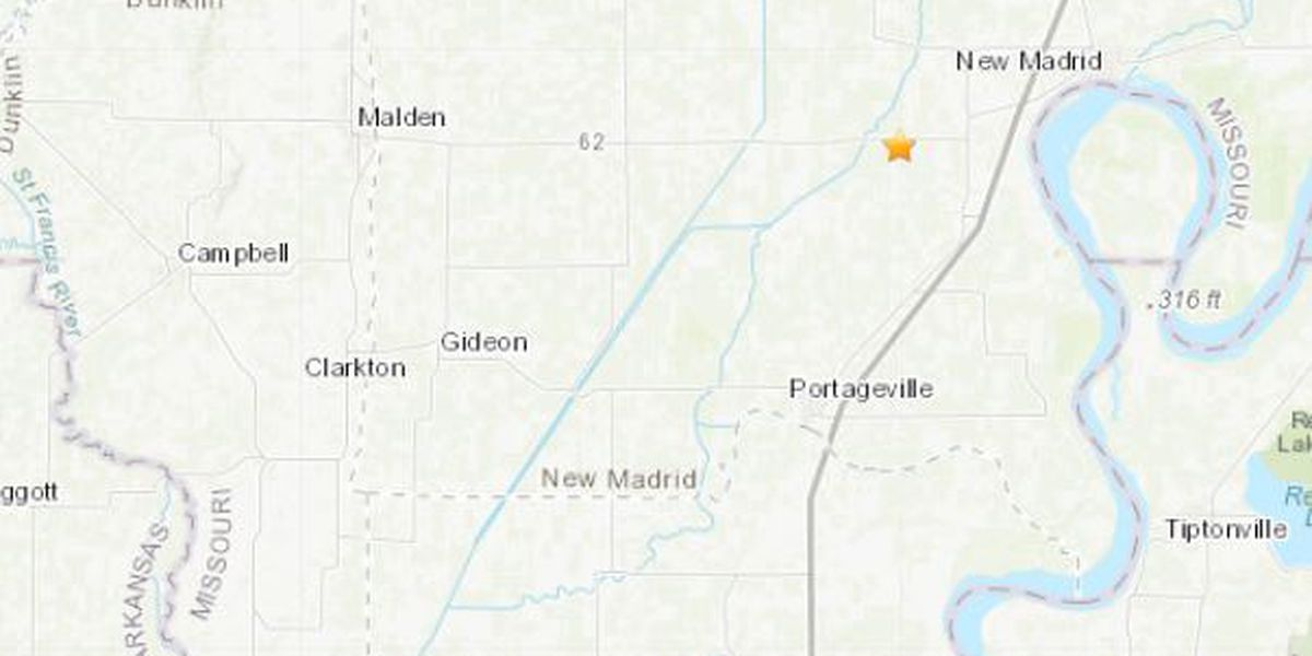 Earthquake reported in New Madrid County measures 2.0 magnitude