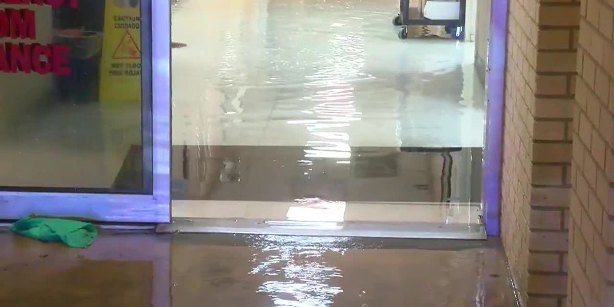 RAW: Hospital floods in Winnie, Texas