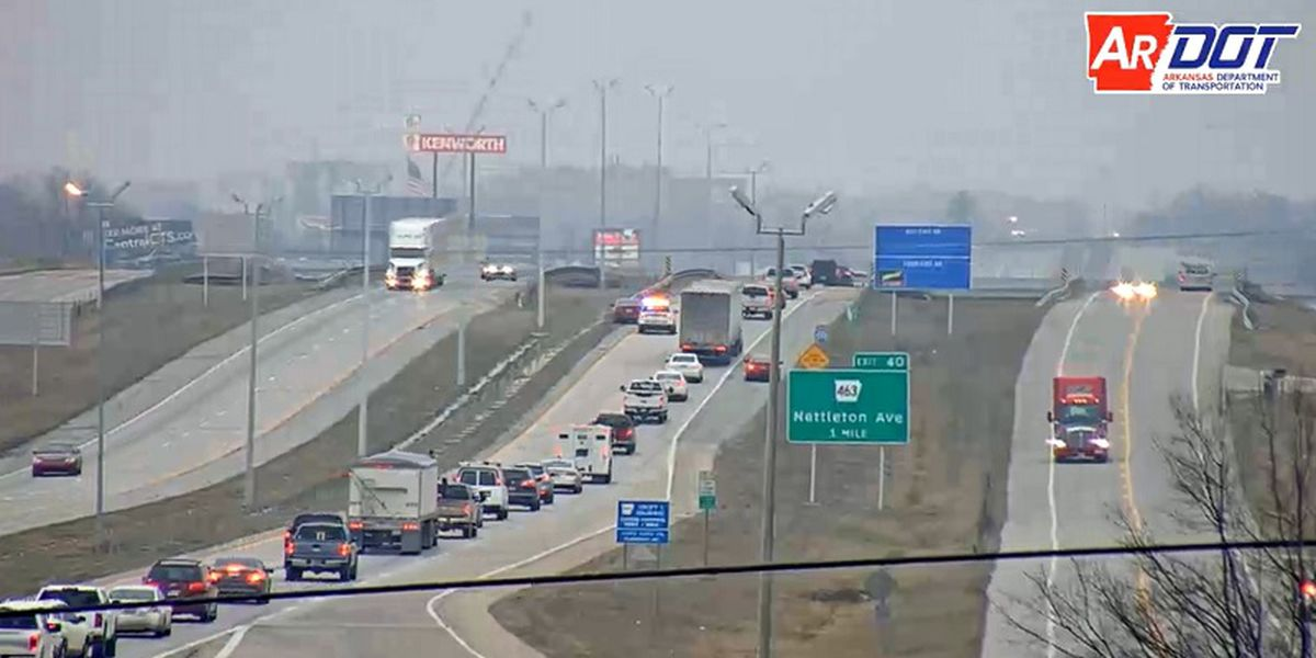 I-555 crash at Red Wolf Blvd. exit stalls traffic during morning commute