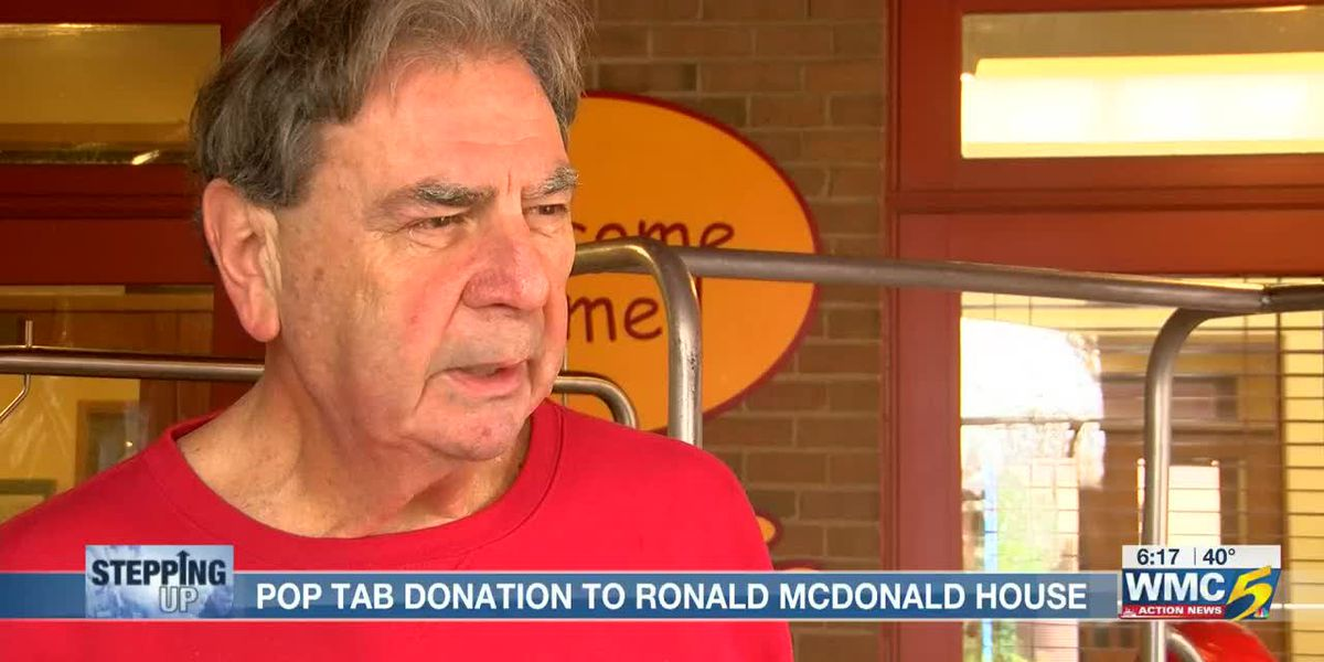 Man stepping up to fund St. Jude family's stay at Ronald McDonald House with pop top donation
