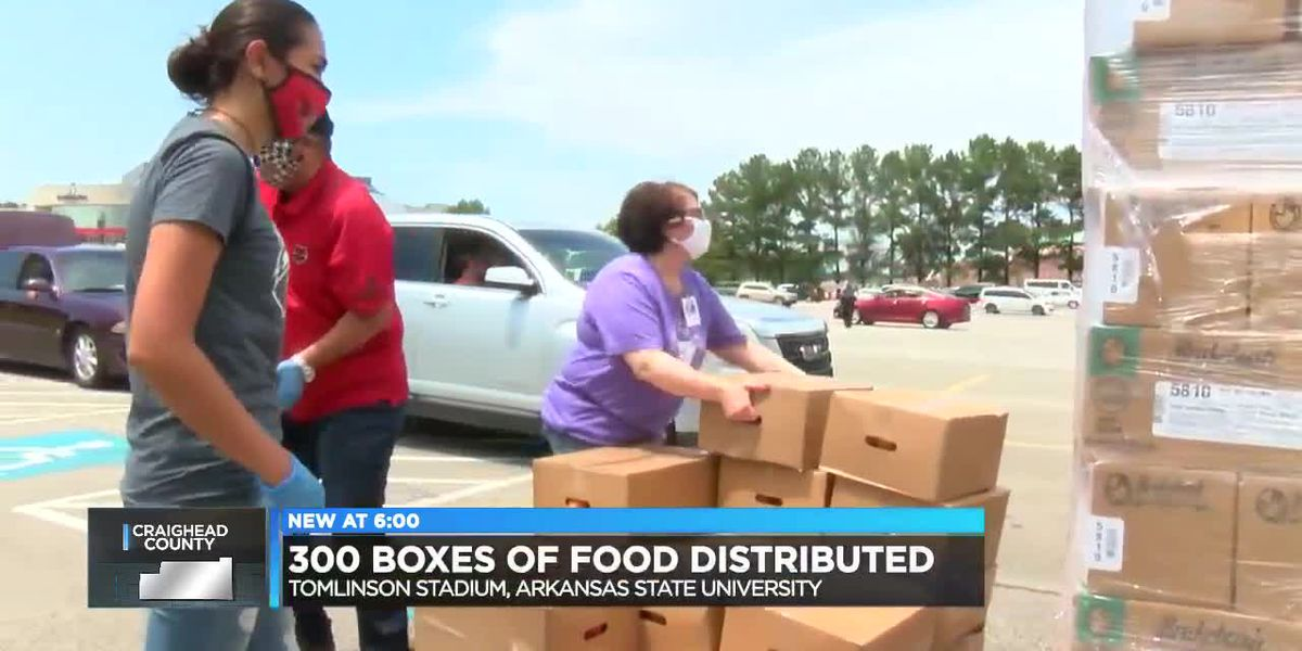 Hundreds of food boxes distributed at A-State