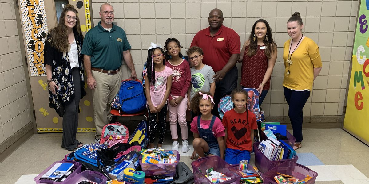 Gamble Home gives backpack, supplies to local schools
