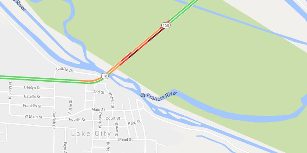 Gas leak closes both lanes of Highway 18 near Lake City