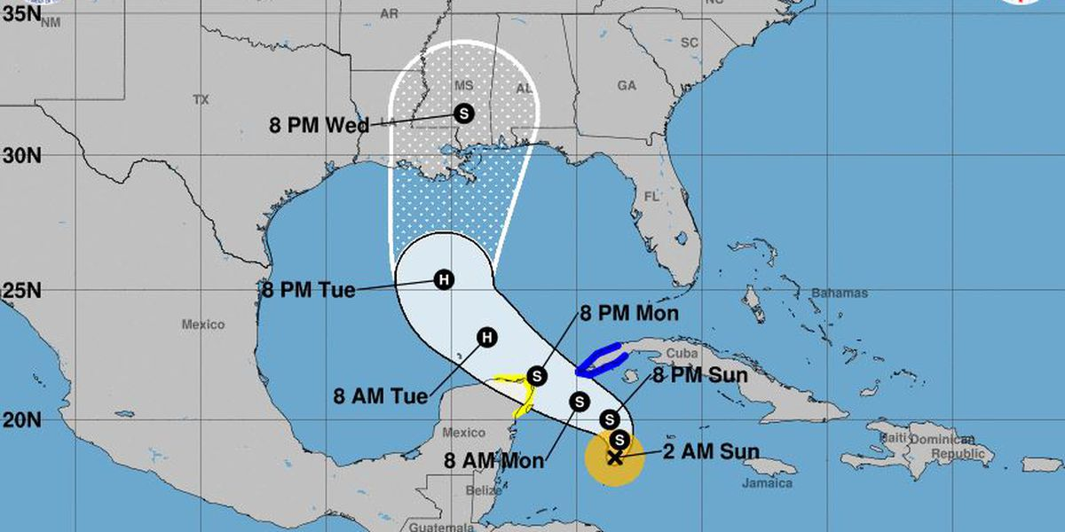 Tropical Storm Zeta forms near Cuba, expected to strengthen