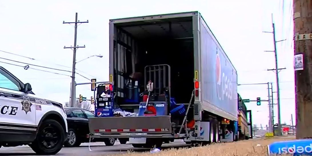 Man leads police chase in stolen Pepsi truck after fight with girlfriend
