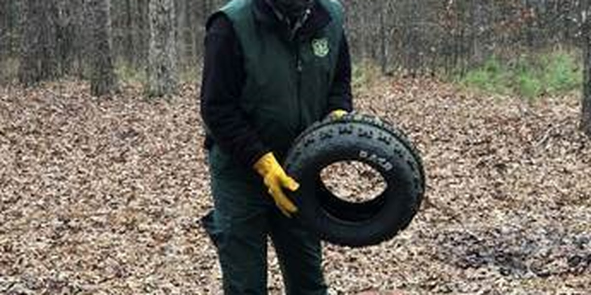 Mark Twain National Forest employees remove 705 tires from forest