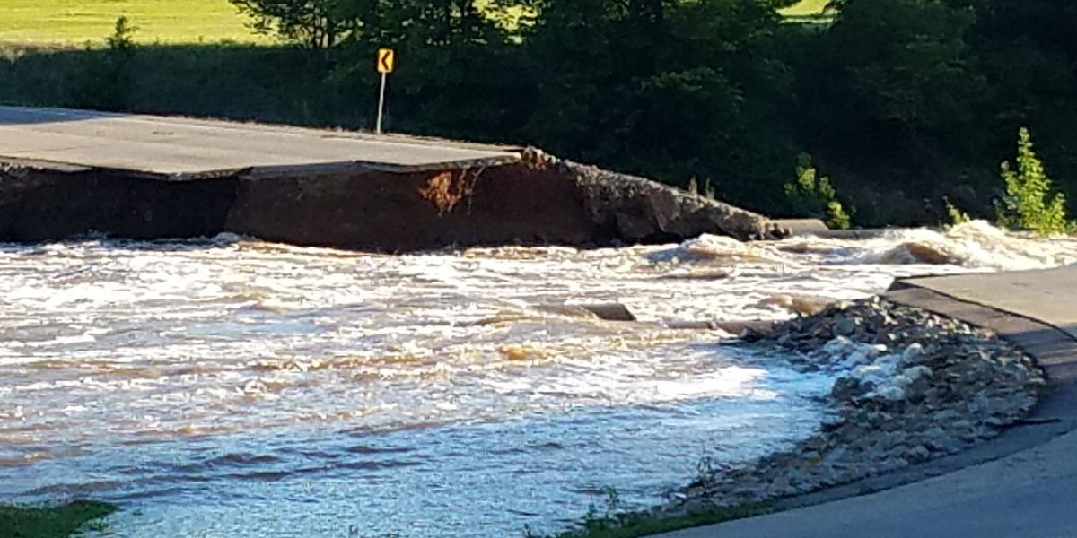 New section of highway at Wappapello Lake washed out