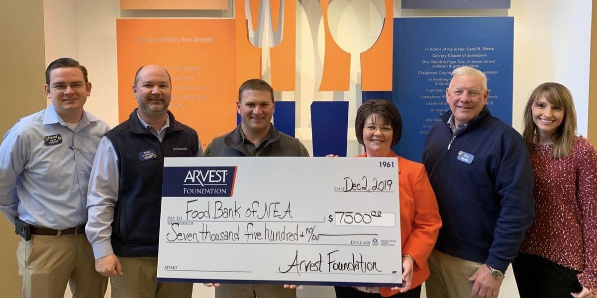 Food Bank of NEA receives grant from Arvest Foundation