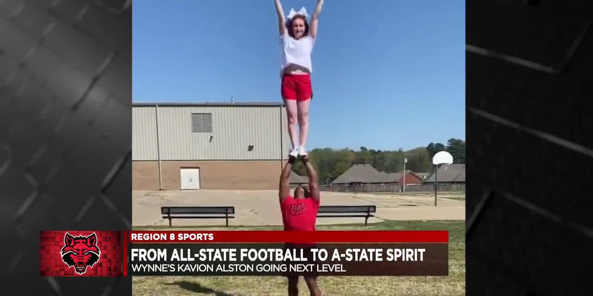 Kavion Alston makes transition from All-State football to Arkansas State cheer