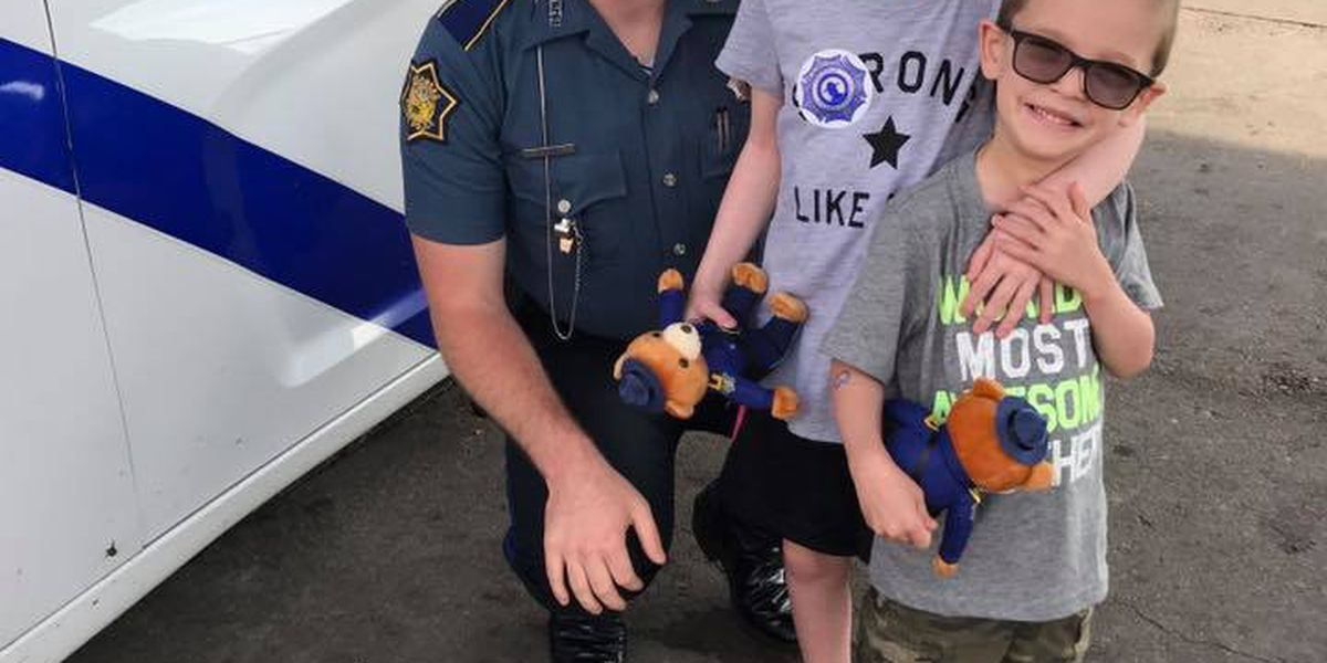 Child battling brain cancer receives surprise from trooper