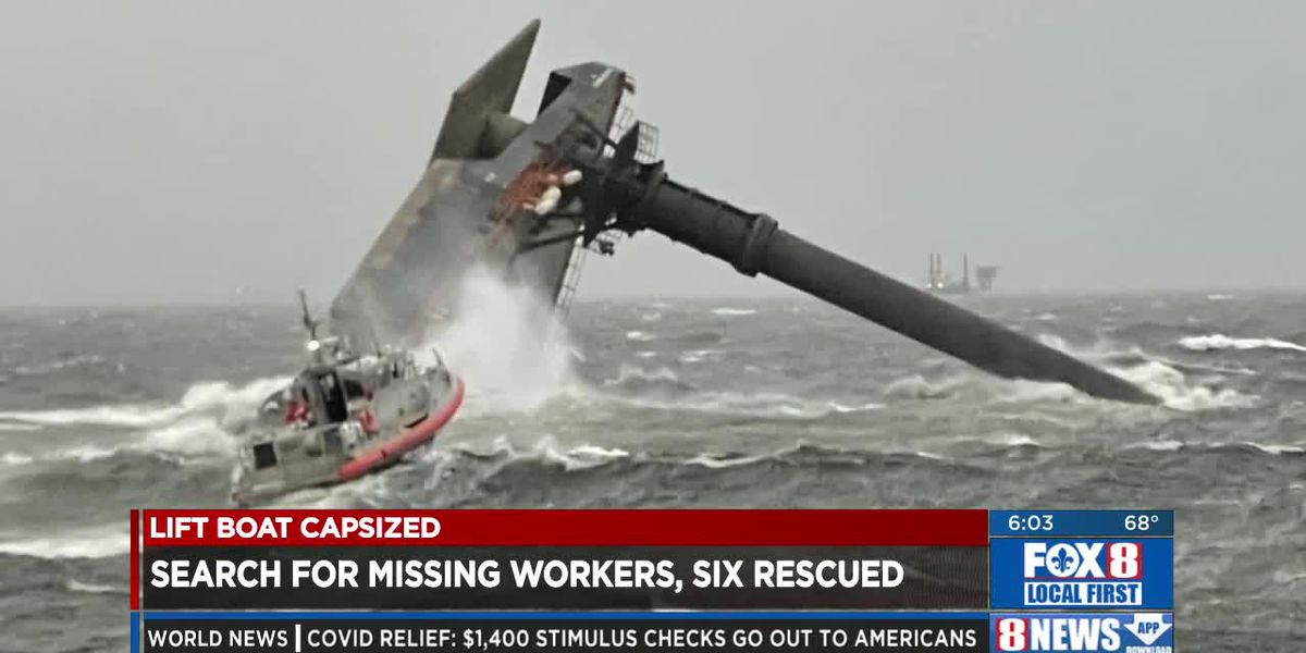 6 rescued, search on for others after boat capsizes south of Louisiana