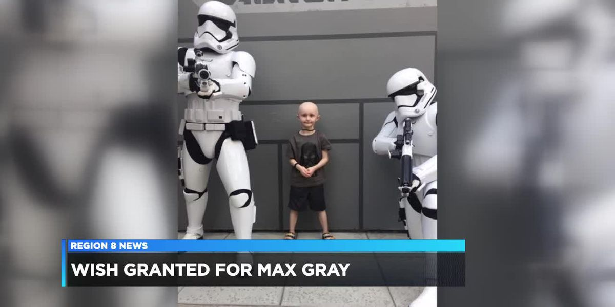 Wish granted for Max Gray
