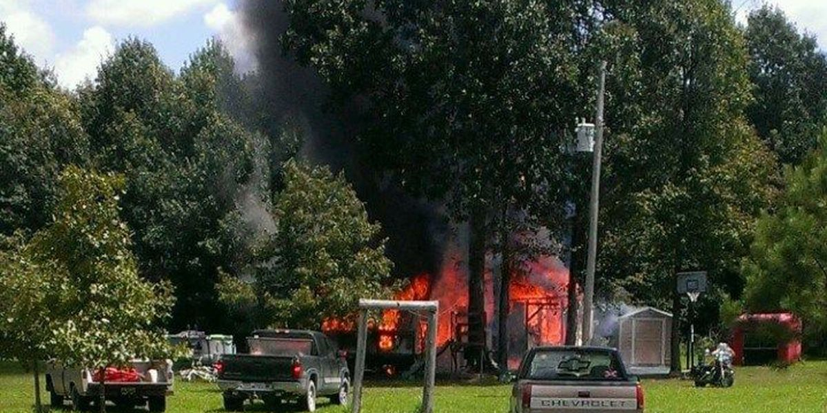 """Firefighters """"lose everything"""" in house fire"""