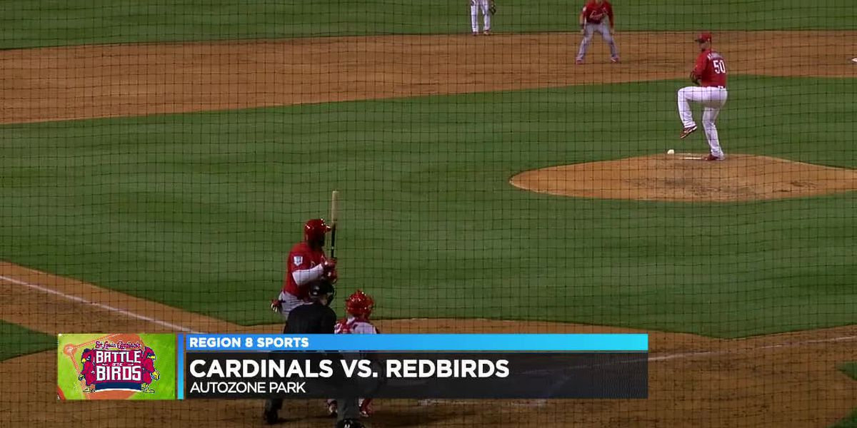 Ozuna hits 3-run HR as Cardinals beat Redbirds in Battle of the Birds