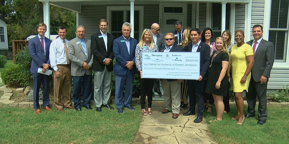 Over $20,000 donated for homes