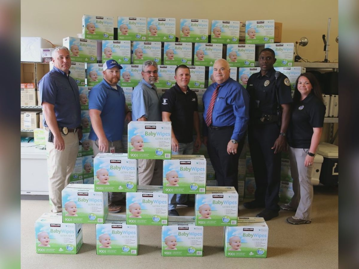 GR8 Job! Nice Pak donates to JPD's diapers and wipes program