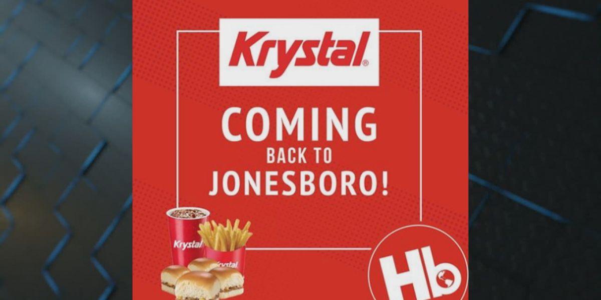 Krystal to return to Jonesboro, location to be determined
