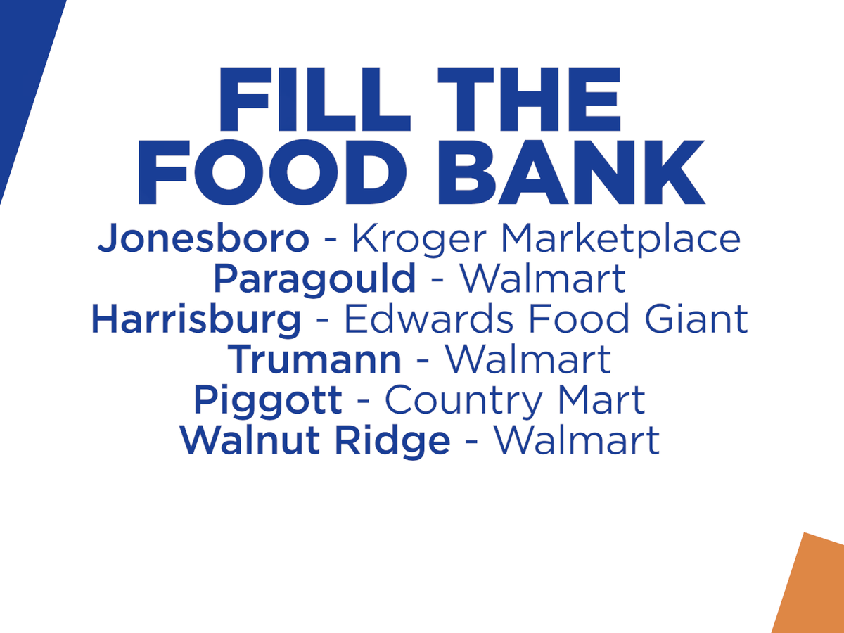 Fill the Food Bank this Friday