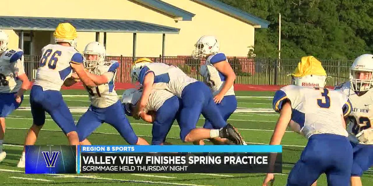 Valley View football spring scrimmage