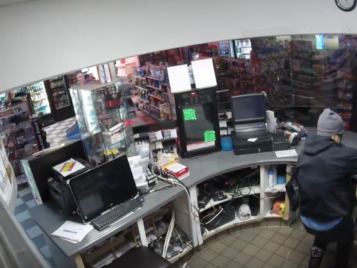 Police search for suspects in gas station burglary