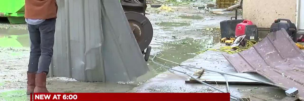 Hundreds of homeowners recovering from overnight storms