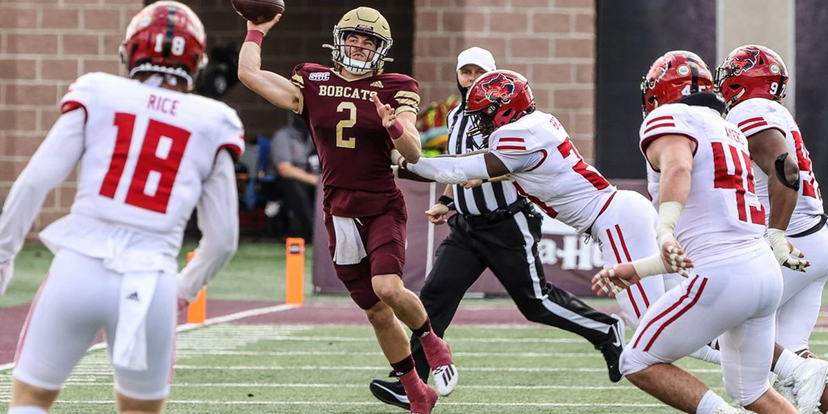 Texas State scores in final minute to beat Arkansas State 47-45