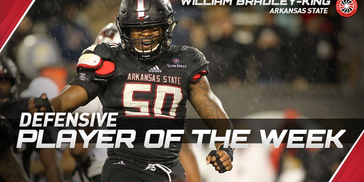 A-State DE William Bradley-King named SBC Defensive Player of the Week