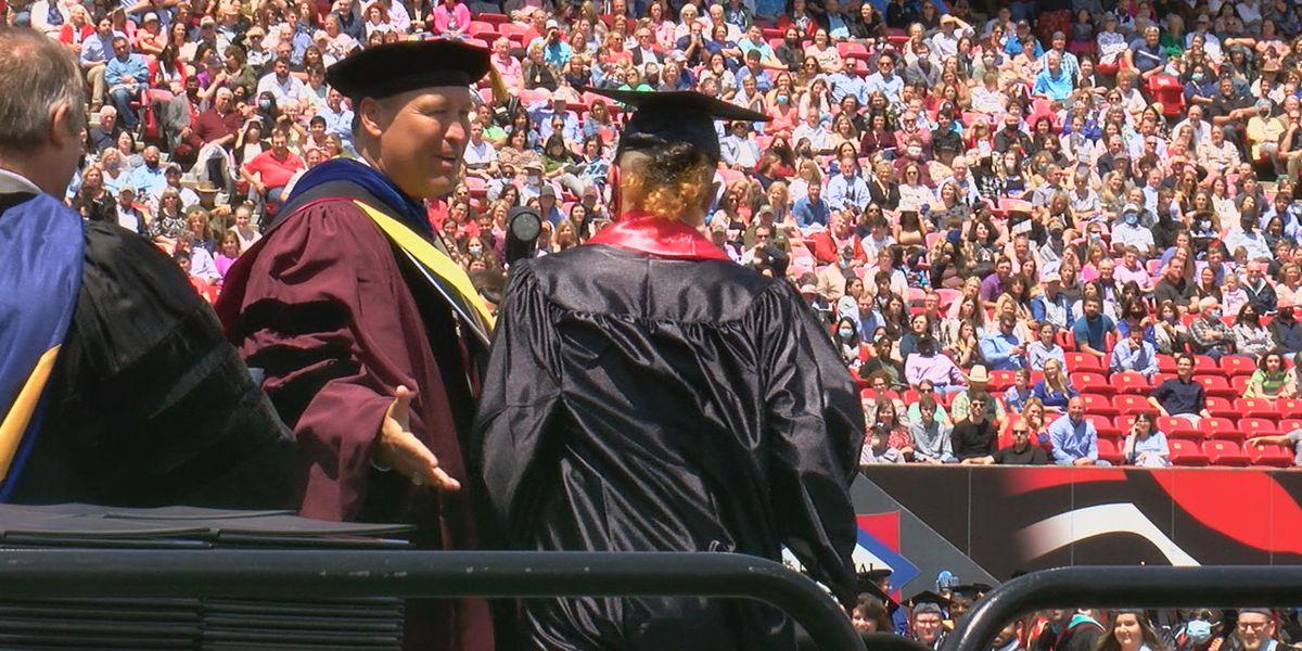 A-State graduation goes on despite earlier heavy rain