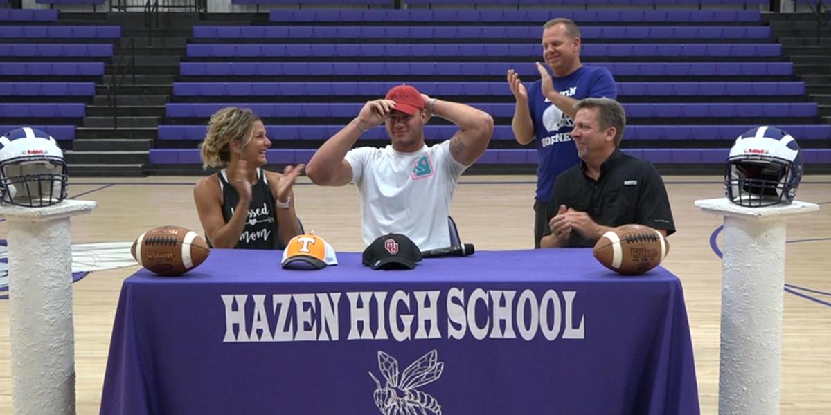 Hazen QB/DE Blayne Toll commits to Arkansas