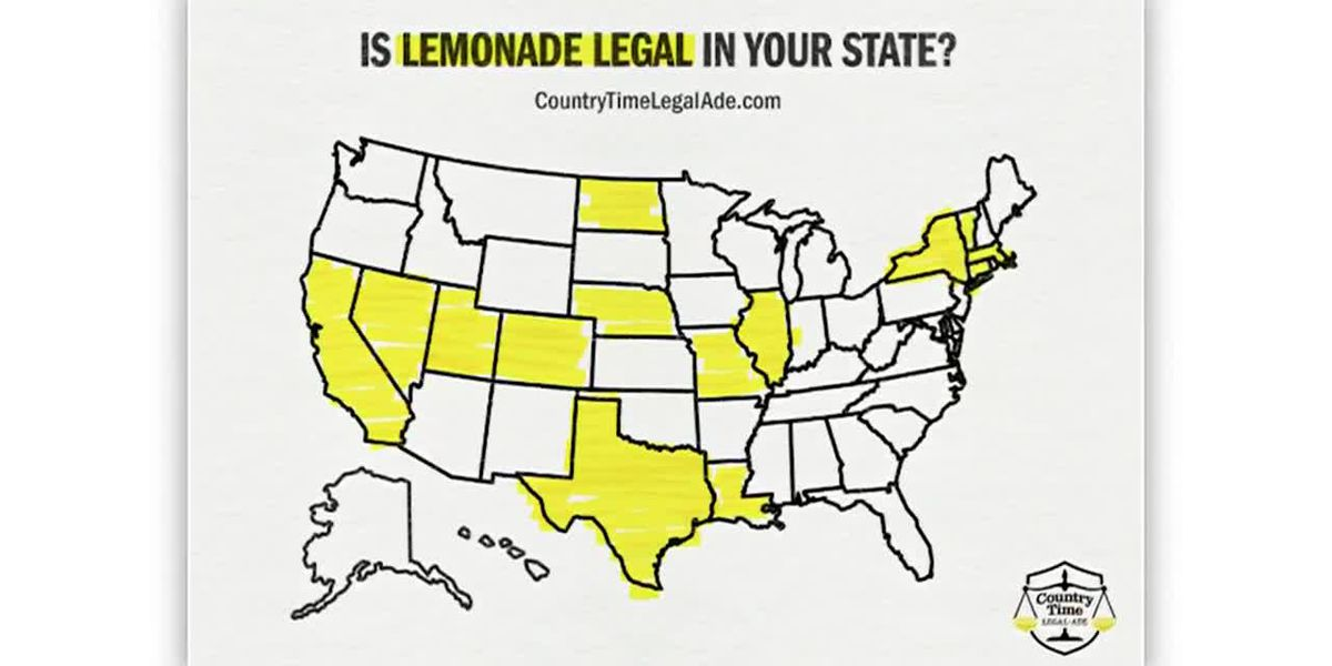 Only 14 states allow unpermitted lemonade stands: Country Time wants to change that