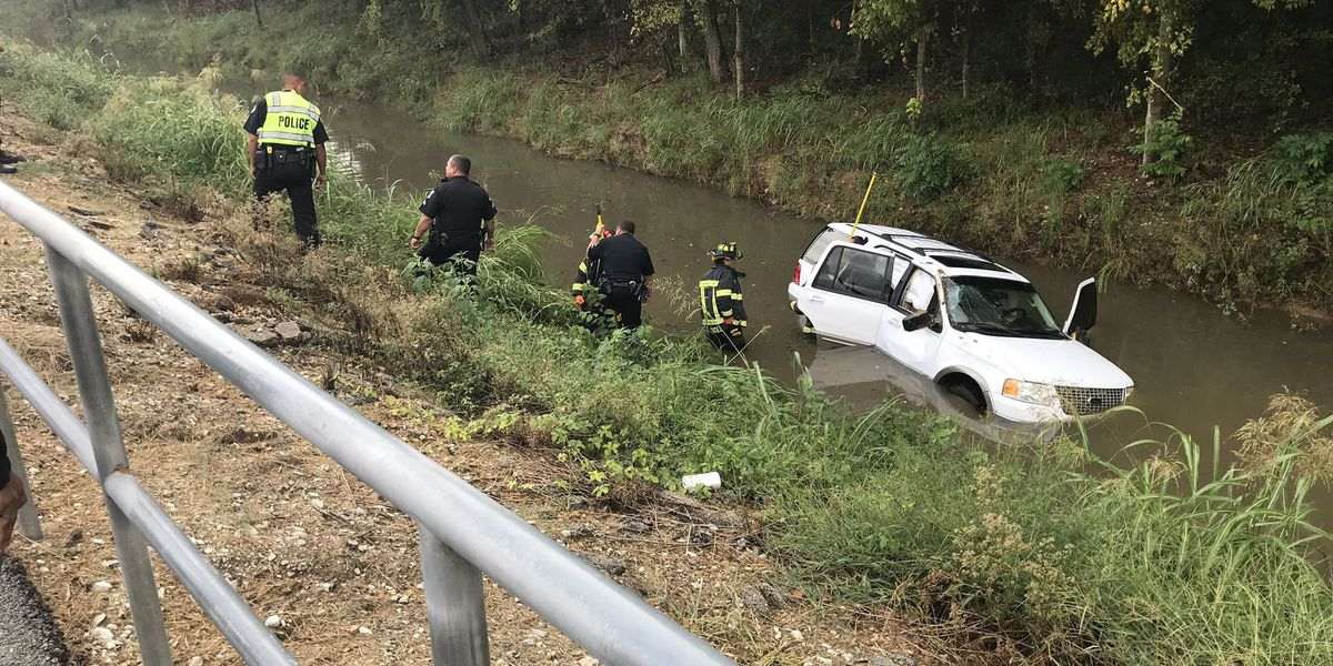 Emergency crews pull mother and daughter from water-filled ditch