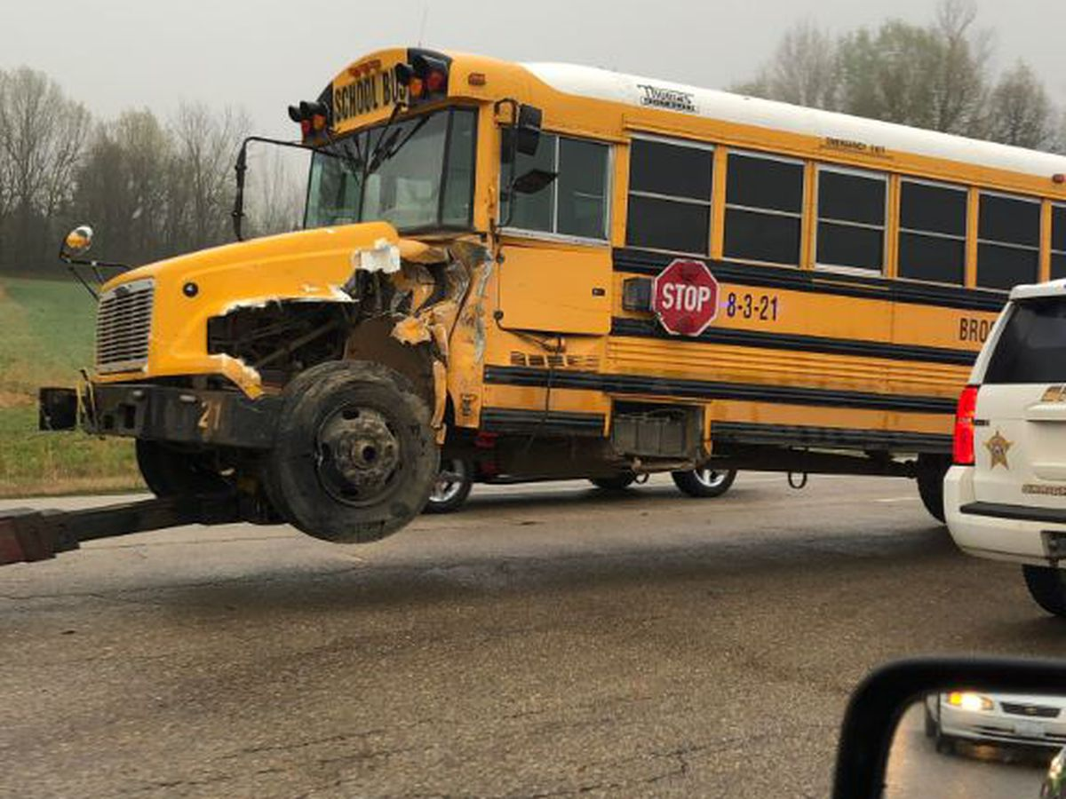 Traffic Alert: Brookland school bus involved in Hwy. 49 crash