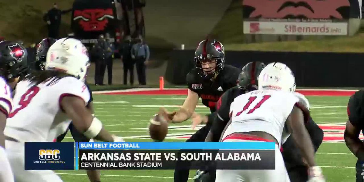 Arkansas State drops their 5th straight, South Alabama beats Red Wolves 38-31