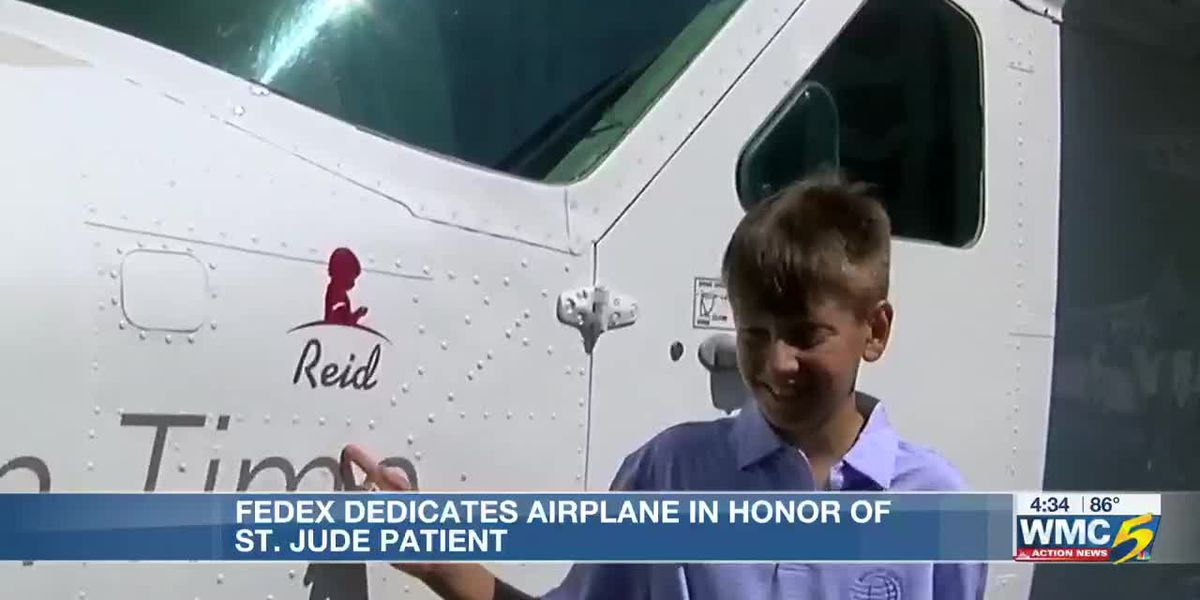 FedEx dedicates airplane in honor of St. Jude patient