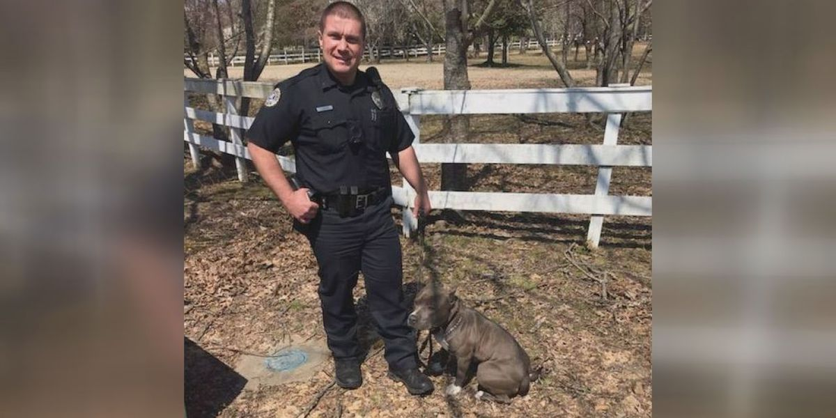Officer steps up for man's best friend