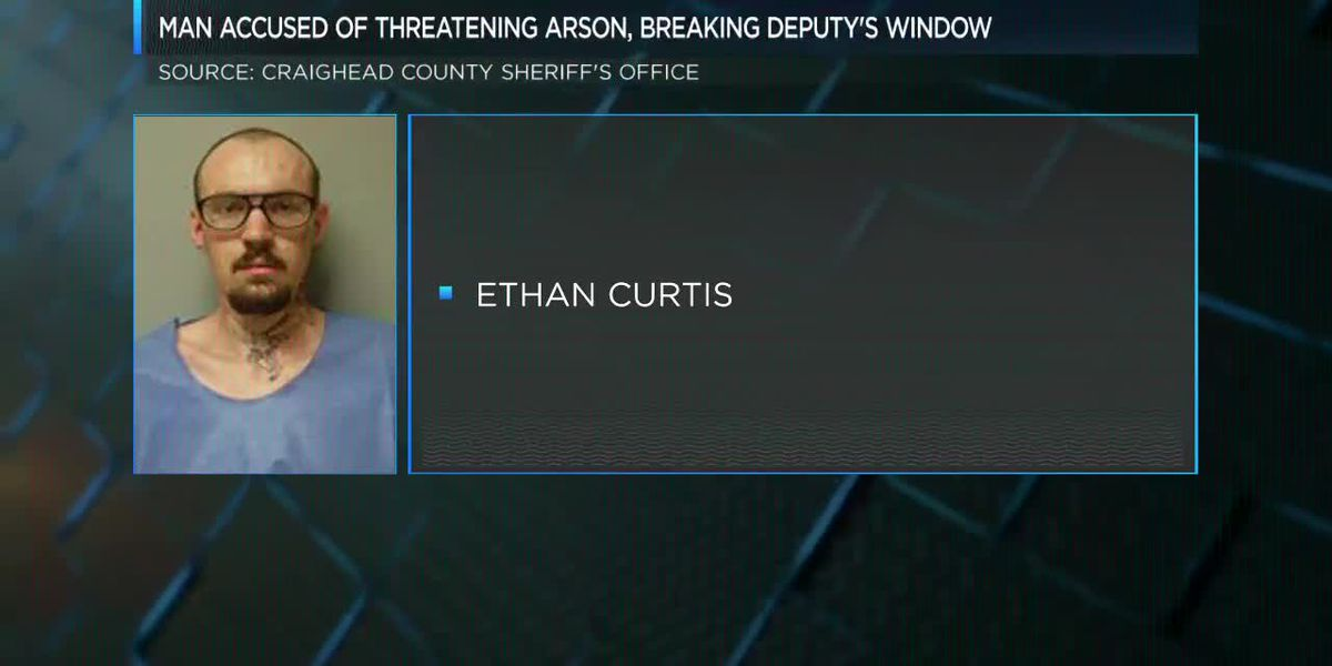 Suspect threatened arson, broke deputy's window