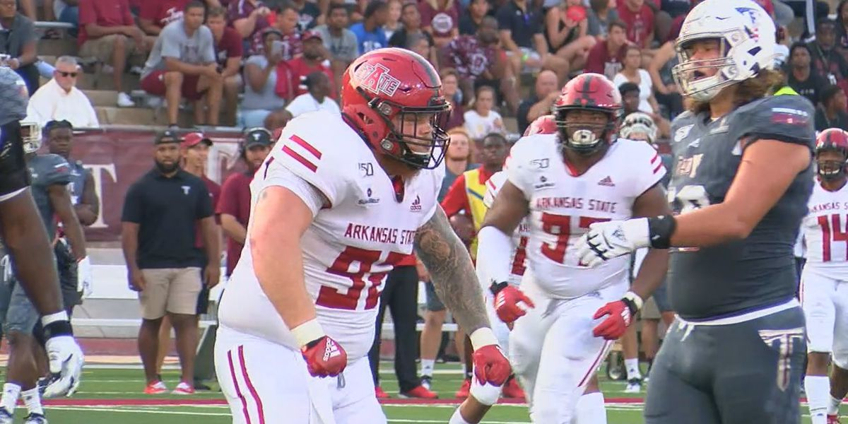 A-State defensive tackle Forrest Merrill to miss the rest of the season