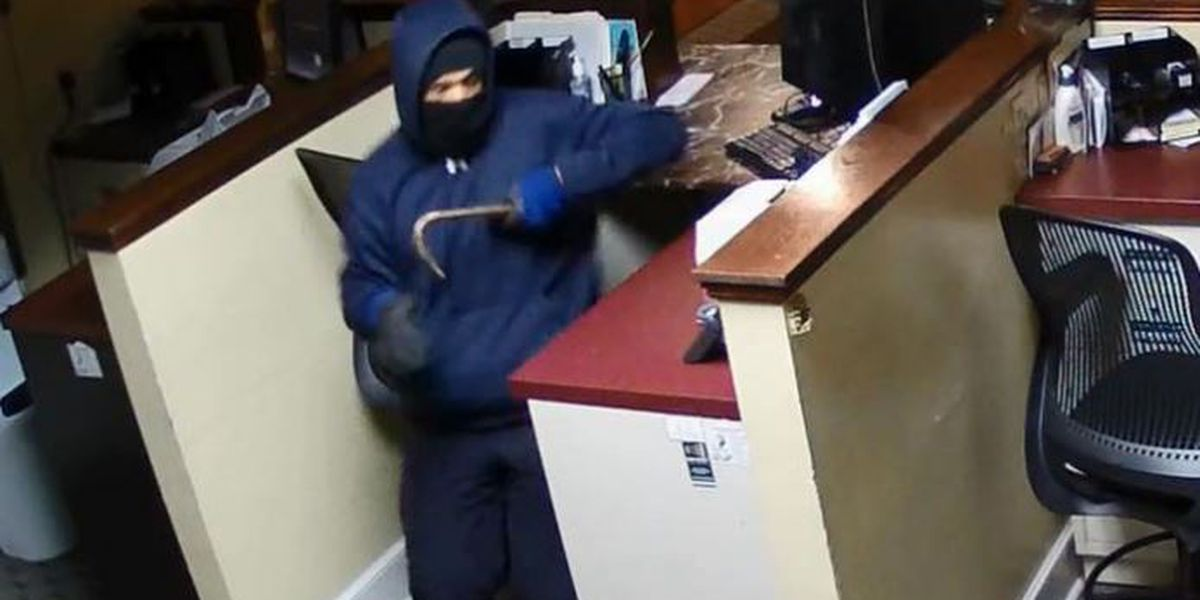 Police searching for suspect in bank break-in