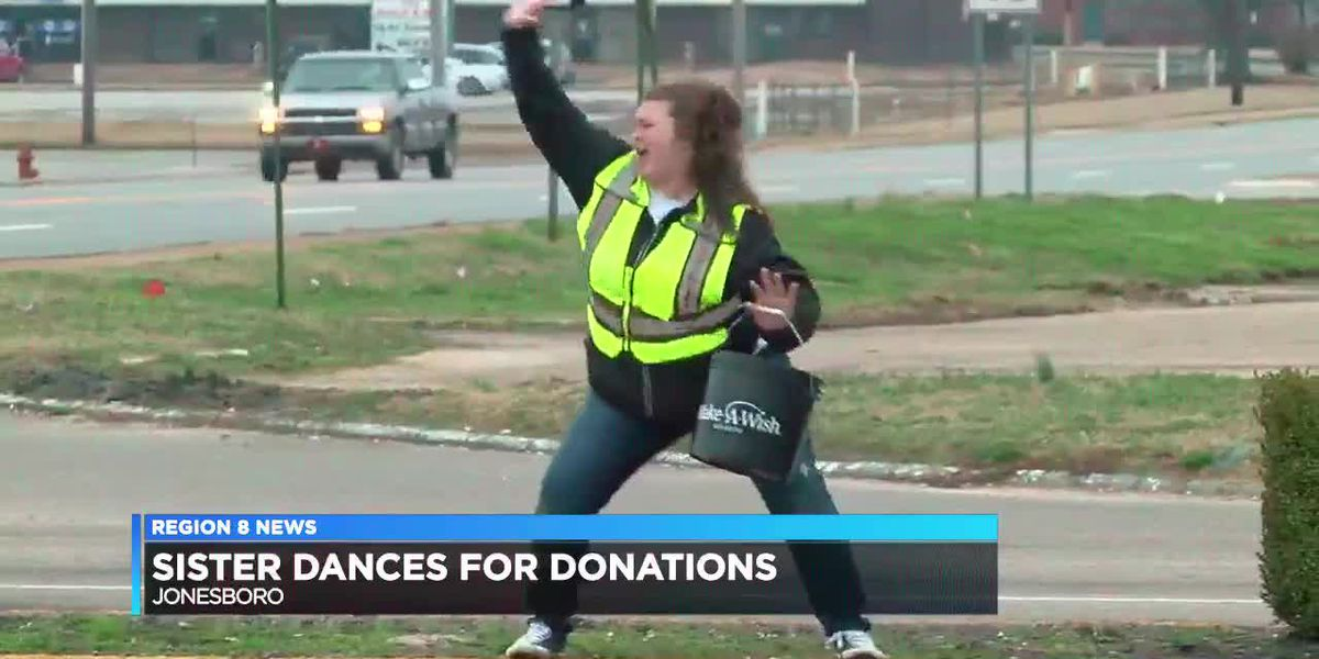 Sister dances for donations in Wish-a-Thon