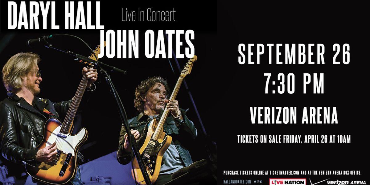 Hall & Oates coming to Verizon Arena this fall