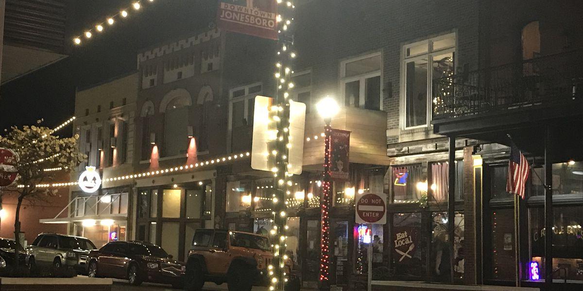 Downtown Jonesboro lights up