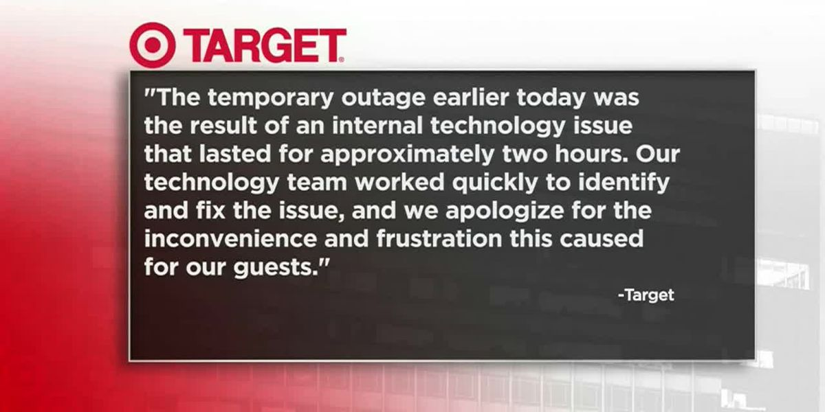 Target says 'internal technology issue' caused register outages