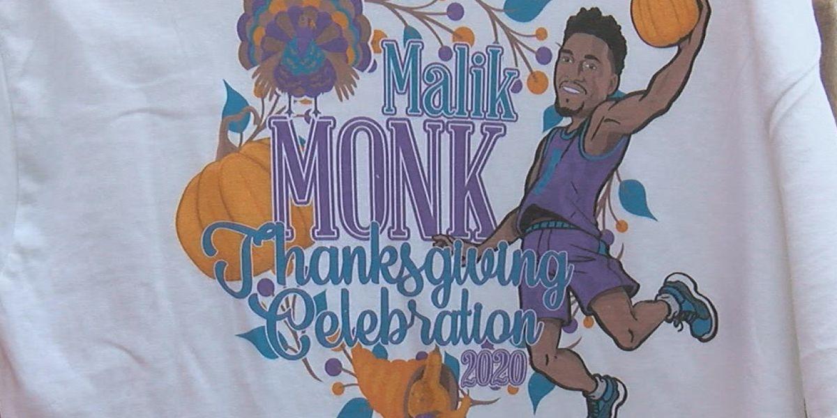 NBA player Malik Monk distributes 300 turkeys to those in need